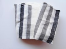 Black and white stripe Glassons Accessories scarf available at Hourglass Apparel